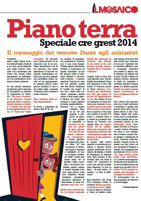 Speciale Mosaico Grest 2014 - Piano Terra